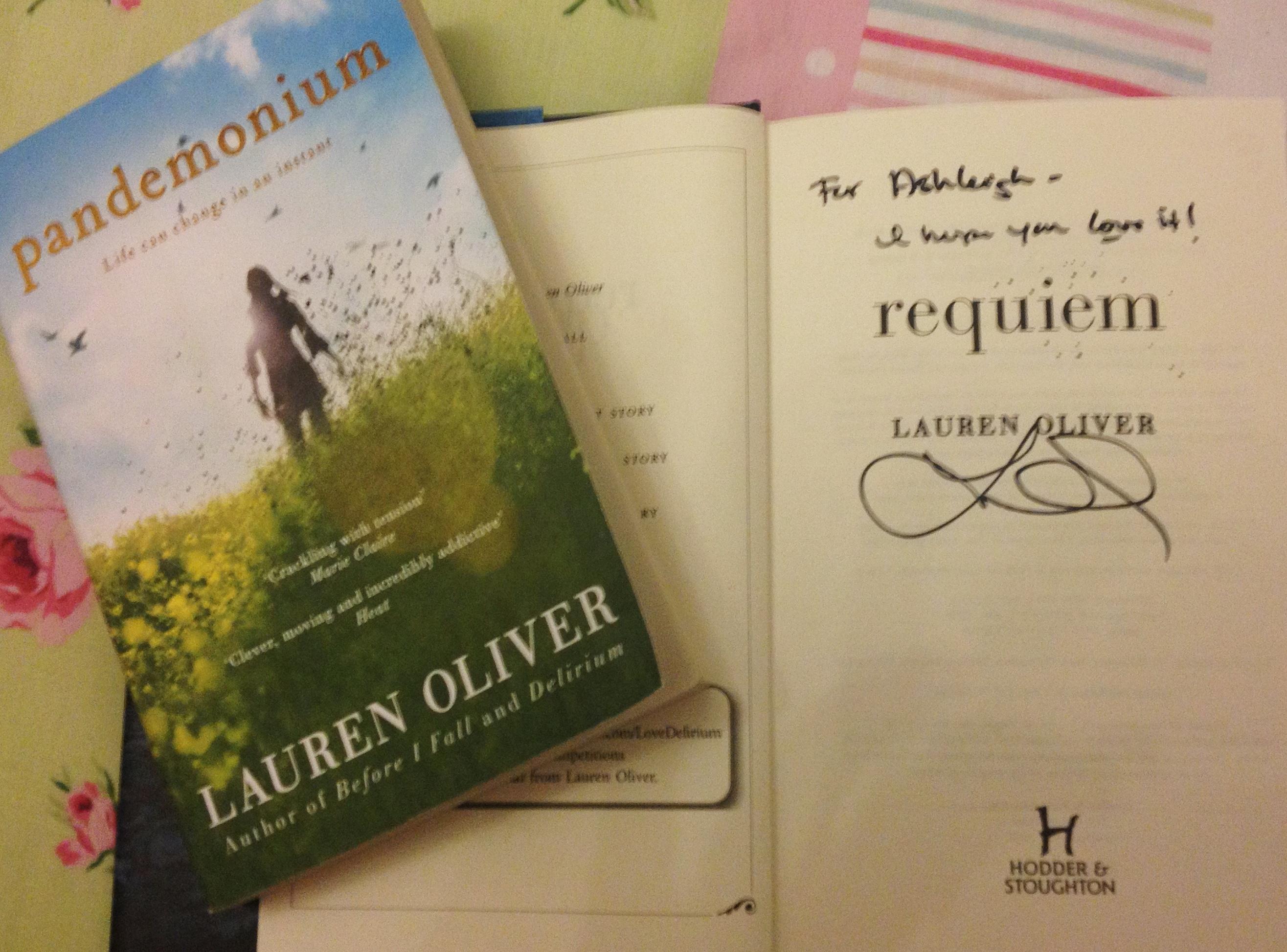 Lauren Oliver signed books