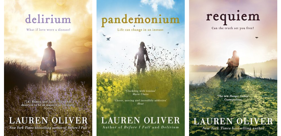 Delirium trilogy covers