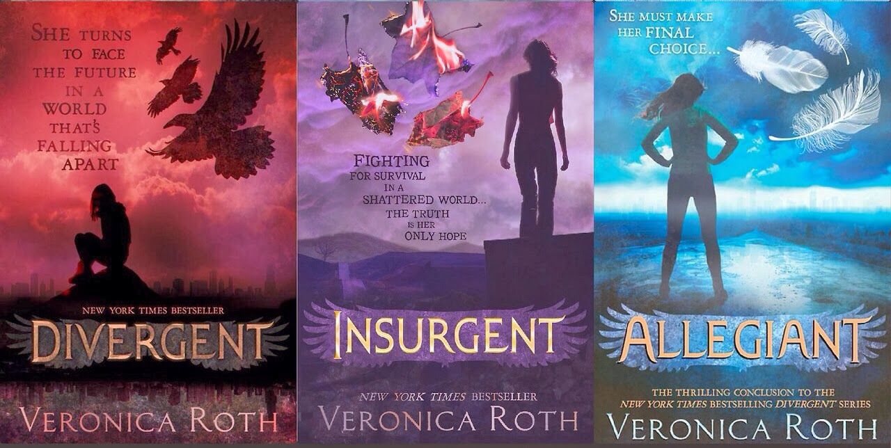 Divergent trilogy covers