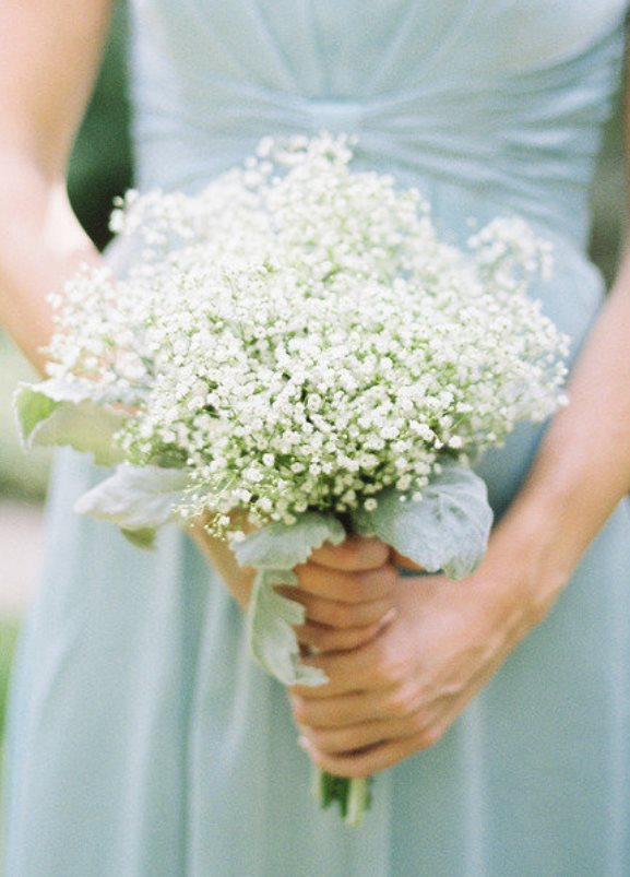 Mint-green-bridesmaids-dress-with-white-babybreath-bridesmaids-bouquet