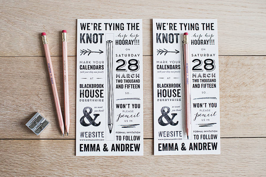 6 super cute save the date ideas ashleigh online originalpencil us in save the date junglespirit Image collections